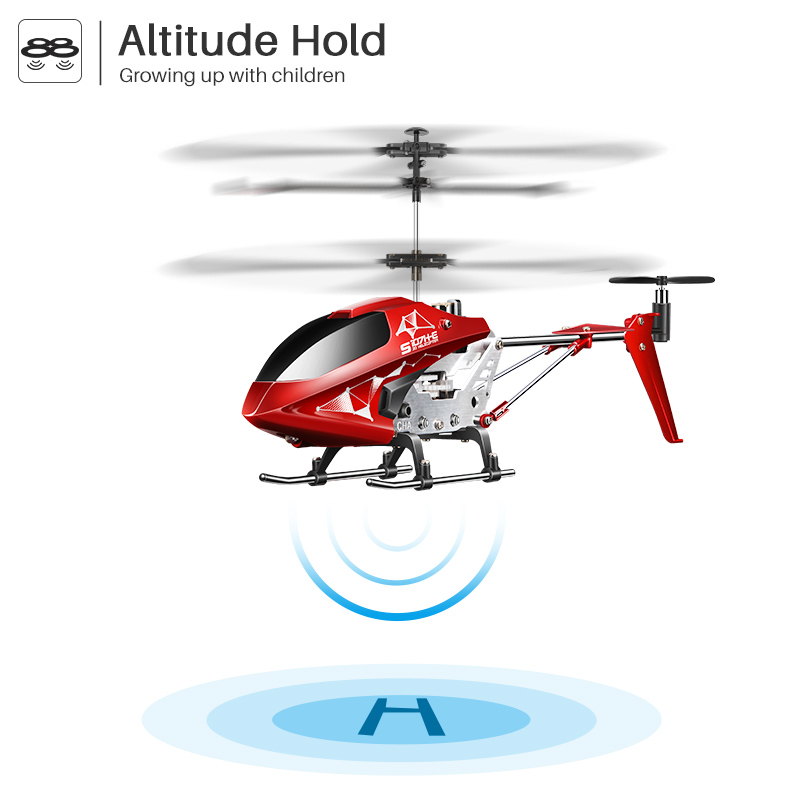 Image 4 - SYMA S107H RC helicopter Remote Control 3.5ch Kid hobbies mini RC flying toy with Gyro for Indoor Play Kids one key fly plane-in RC Helicopters from Toys & Hobbies