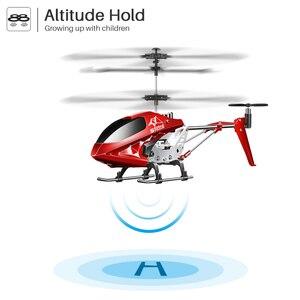 Image 4 - Syma s107h rc helicóptero controle remoto 3.5ch criança hobbies mini rc brinquedo voador com giroscópio para o jogo interno crianças uma chave voar avião