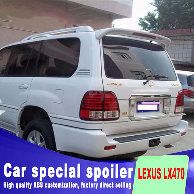 big spoiler for LEXUS LX470 2007 to 2013 punching install red brake light high quality ABS material by primer DIY paint colorbig spoiler for LEXUS LX470 2007 to 2013 punching install red brake light high quality ABS material by primer DIY paint color