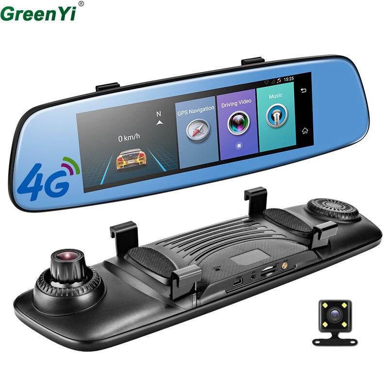 GreenYi 4G ADAS Car DVR Camera Video Recorder Mirror 7.86 Android 5.1 With Two Cameras Dash Cam Registrar Black Box 16GB