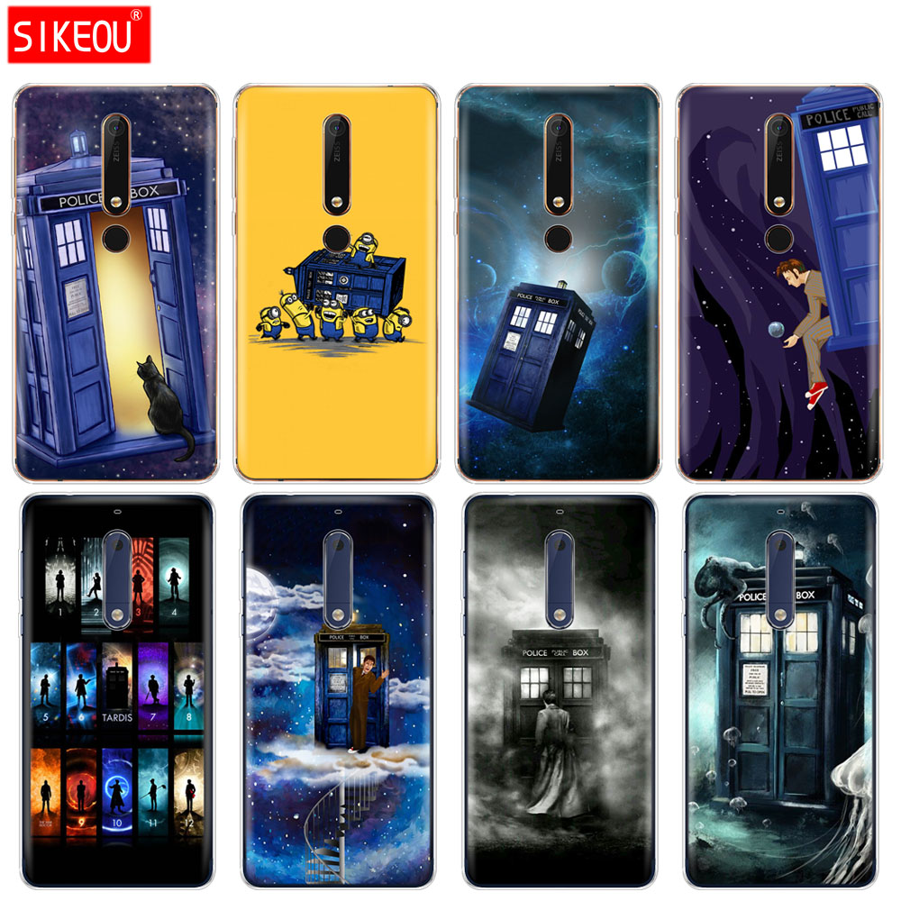 Cellphones & Telecommunications Fitted Cases Humorous Silicone Cover Phone Case For Nokia 5 3 6 7 Plus 8 9 /nokia 6.1 5.1 3.1 2.1 6 2018 Tardis Box Doctor Who Wide Varieties