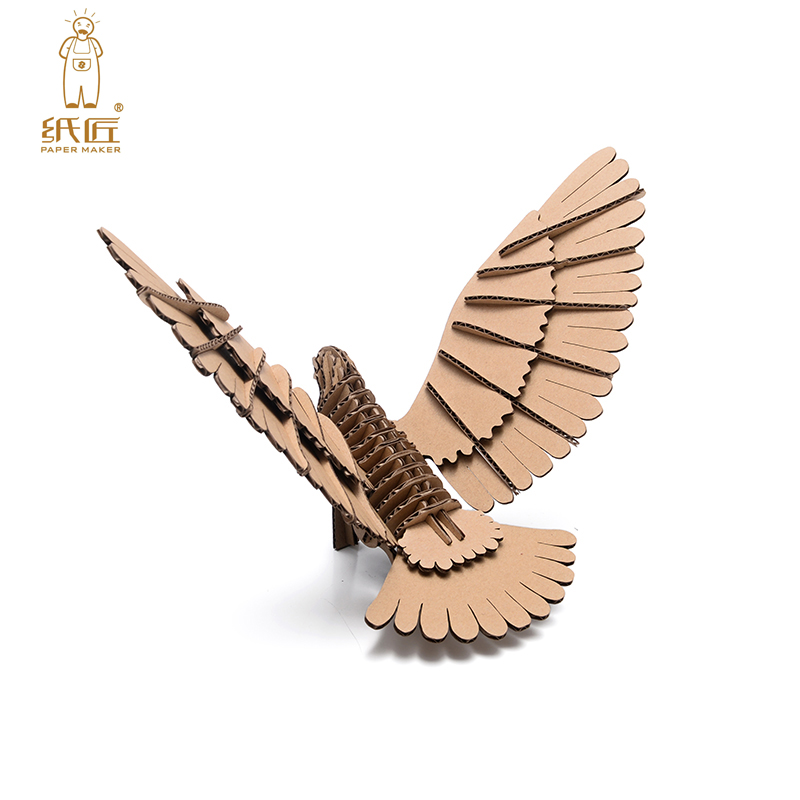 3d Puzzle Bird Model Paper Craft Kids DIY Cardboard Animal Papercraft Art Educational Toys Children Game Creative Birthday Gifts