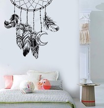 Art  Wall Sticker Feather Dreamcatcher Decoration Nersery Ornament Vinyl Removeable Poster Modern Mural LY178