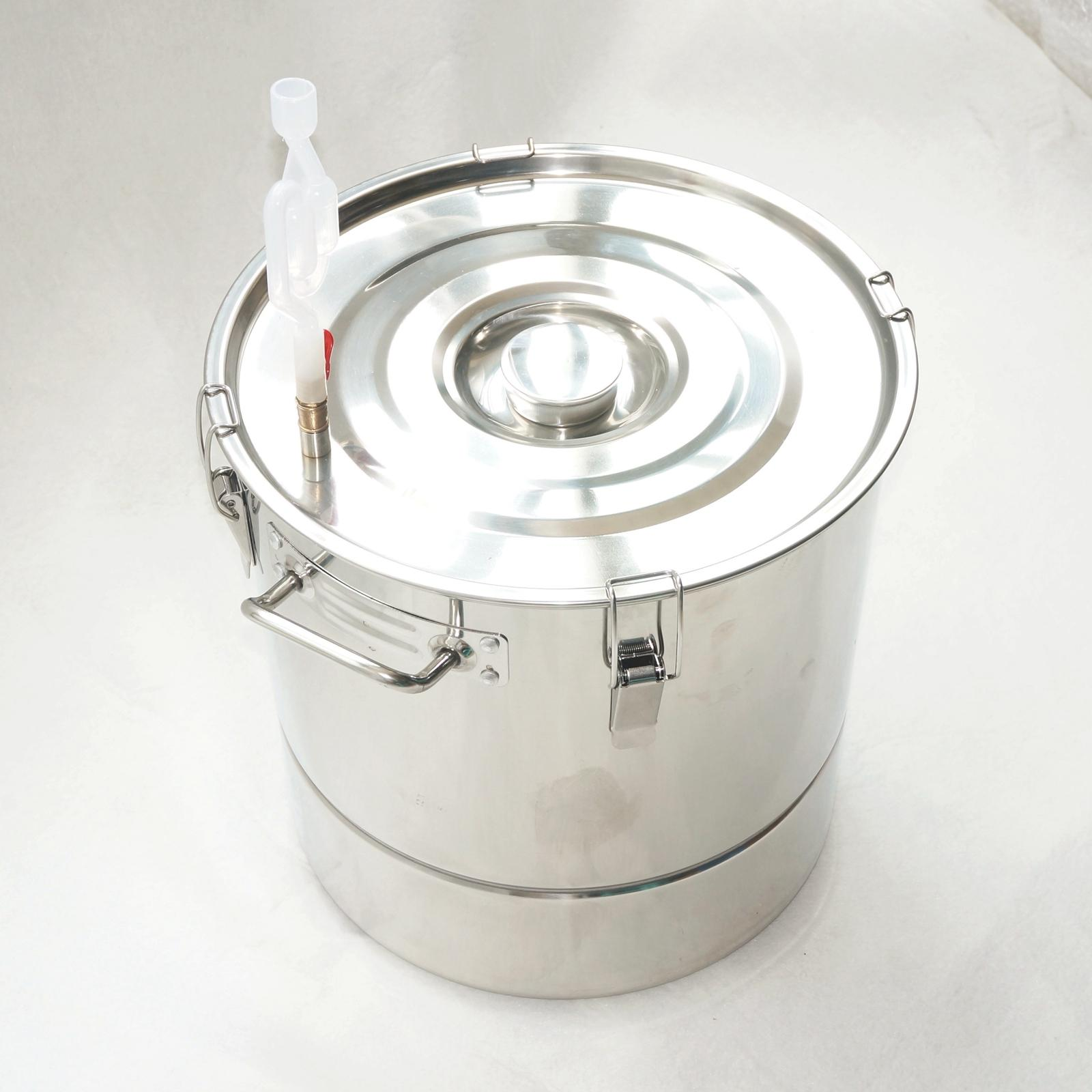 30L 301 Stainless Steel Fermenter Fermentation Barrel Home Brew Wine Beer fermentation technology