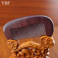 YBF For Fashion Boyfriend Gift Healthy Hair Combs Purpleheart Wooden Brush Carbon Barber Professional Hairdresser Beard Comb