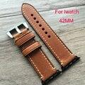 Подлинная Assolutamente кожаный ремешок ручной хлопка-ватник группа браслет для Iwatch Apple , часы полоса 42 мм