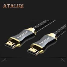 лучшая цена Ataliqi HDMI Cable HDMI 2.0 3D 4K 1080P 50cm 3m 5m 1m 10m 15M HDMI to HDMI Cable for Apple TV PS3 PS4 projector computer Cables