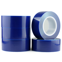 1pc Blue PE Protective Film Adhesive Tape 50mm 200m Stainless Steel Film Aluminum Membrane