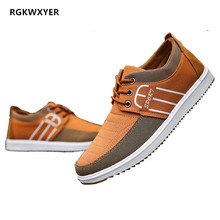 RGKWXYER Fashion Men Canvas Shoes Lace-Up Breathable Male Slip On Casual Cloth Student Low-top Sneakers