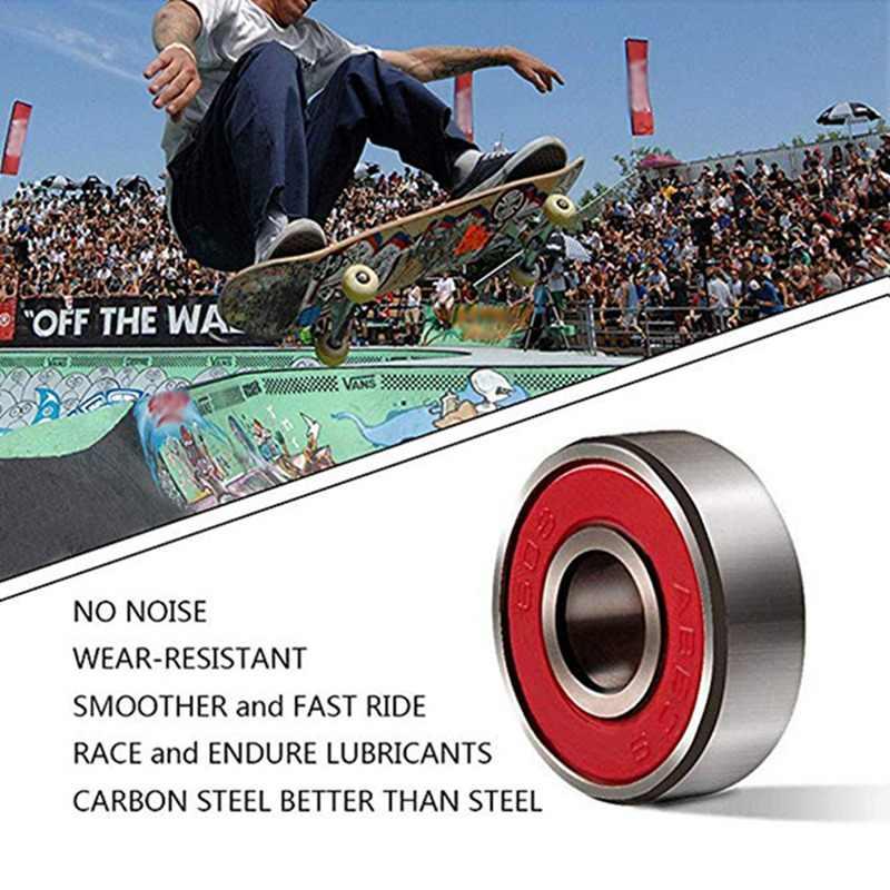 Hiçbir gürültü Pürüzsüz Paten Scooter Rulman Longboard Hız Inline Paten Tekerlek Rulman Mini Kaykay Patenci Scooter Rulmanlar