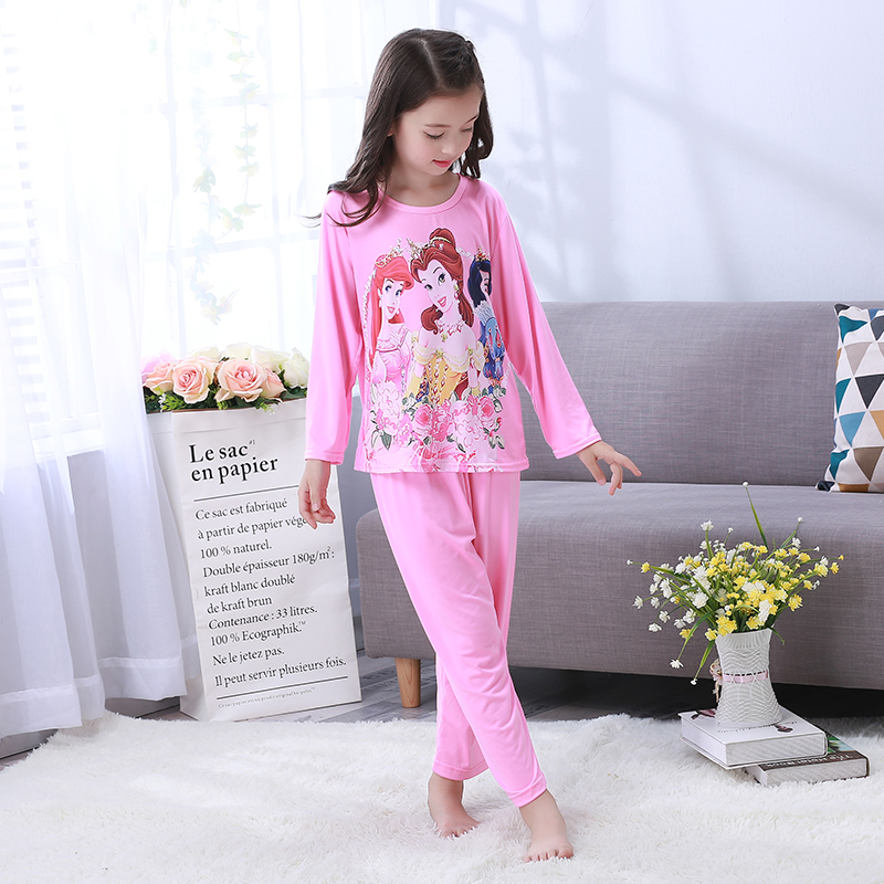 2018 autum girls pajama sets for kids cute lovely girls pajamas children's clothing baby girl sleepwear spring lounge suit
