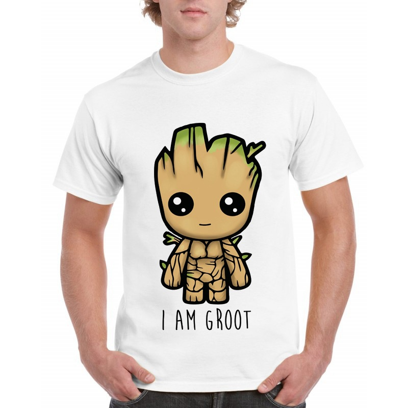 BTS Newest Guardians Of The Galaxy 2 Men Groot T-shirt Anime Baby Pop Baby Groot Summer Funny I AM Groot Printed Gift T-Shirt