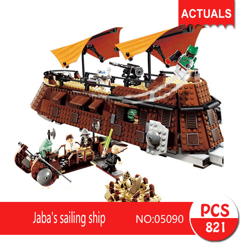 Lepin 05090 821Pcs Jaba's sailing ship Model Building Blocks Set  Bricks Toys For Children Gift Action figures 6210 lepin 22001 pirate ship imperial warships model building block briks toys gift 1717pcs compatible legoed 10210