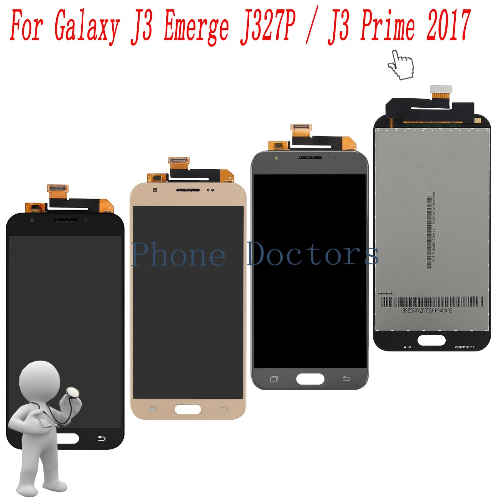 5.0 '' Touch Screen Digitizer+ LCD Display Assembly For Samsung Galaxy J3 Emerge J327 / Galaxy J3 Prime 2017 LTE J327T J327A