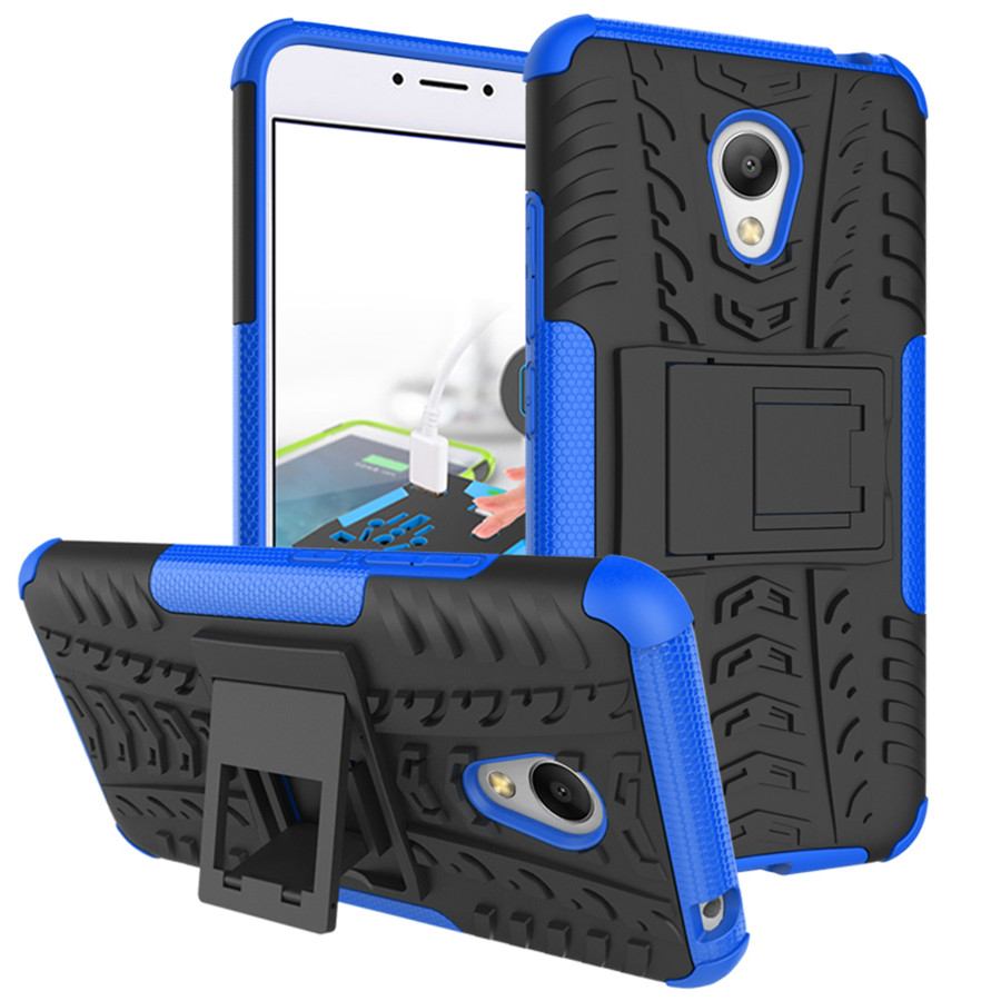 Mobile Phone Bags & Cases: For Meizu M3 mini Case TPU & PC Dual Armor Cover with Stand Holder Hard Silicone Armor Cover Shock  Case for meizu  M3S mini