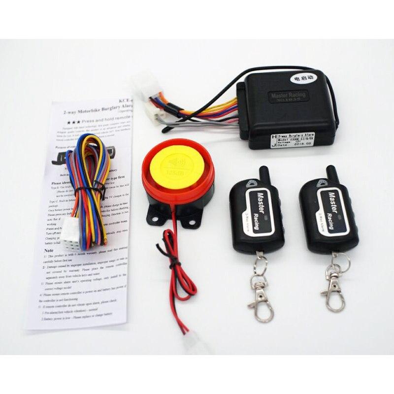 Motorrad Alarm System Keyless Motor-Start Warner Alarm für Motorrad Roller Anti-theft Sicherheit Alarm Fernbedienung Sirene
