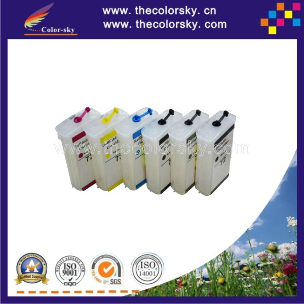 (RCH-72) Refill Ink inkjet Cartridge for HP72 HP 72 T610 T620 T790 T1100 T1120 T1200 T770 T2300 C9403A C9397A with ARC free dhl