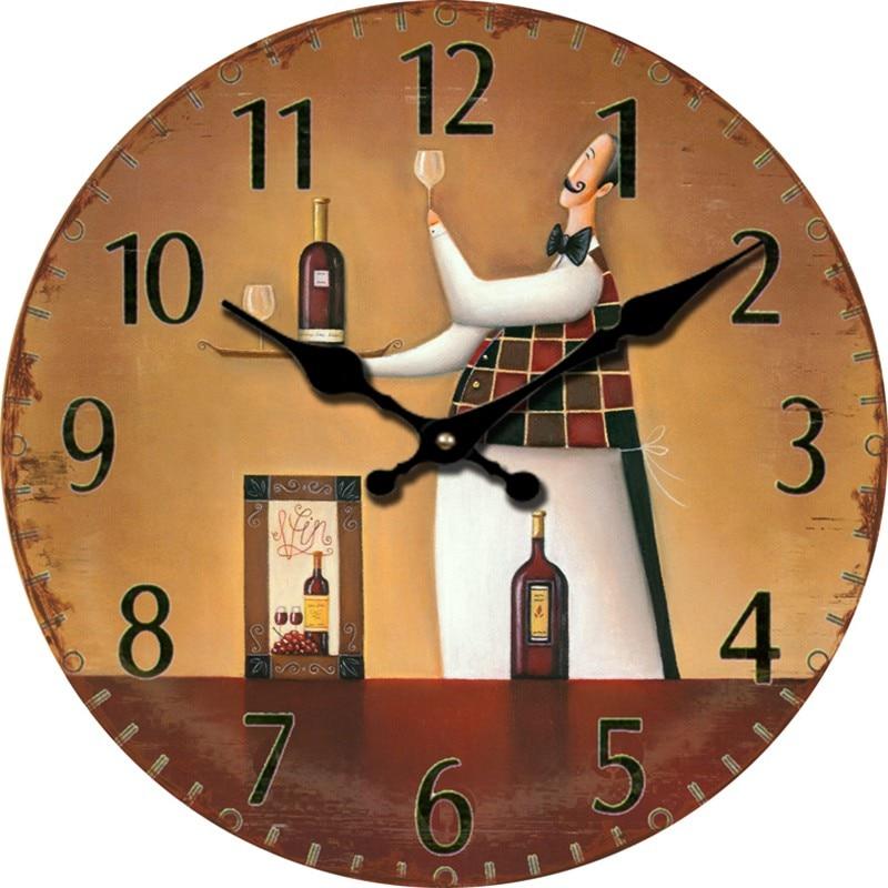 Popular Antique Wooden Wall Clock Buy Cheap Antique Wooden