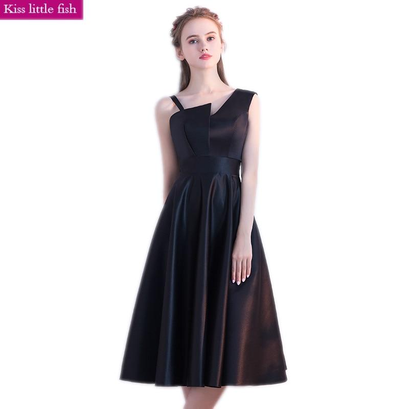 Vestidos negros elegantes de graduación para ocasión especial, Vestido de fiesta, Vestido de formatura, Envío Gratis