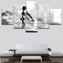 HD Top-Rated Printing 5 Pieces Musician Performance Model Music Painting Type Poster Framework Home Decorative Modern Bedroom
