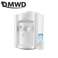 DMWD Electric Desktop water dispenser hot cold ice warm Drink Watering Machine mini heating Hot water heater Kettle Boiler 220V