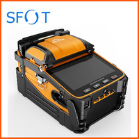 AI 9 Splicing Machine, Fusion Splicer with Fiber Cleaver and Stripper and Splicer Kit