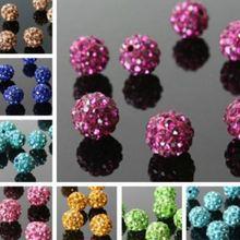 6 мм 10 мм 8 мм 12 мм 14 мм 100 шт./лот разноцветные шарики изготовление браслета ожерелья кристалл