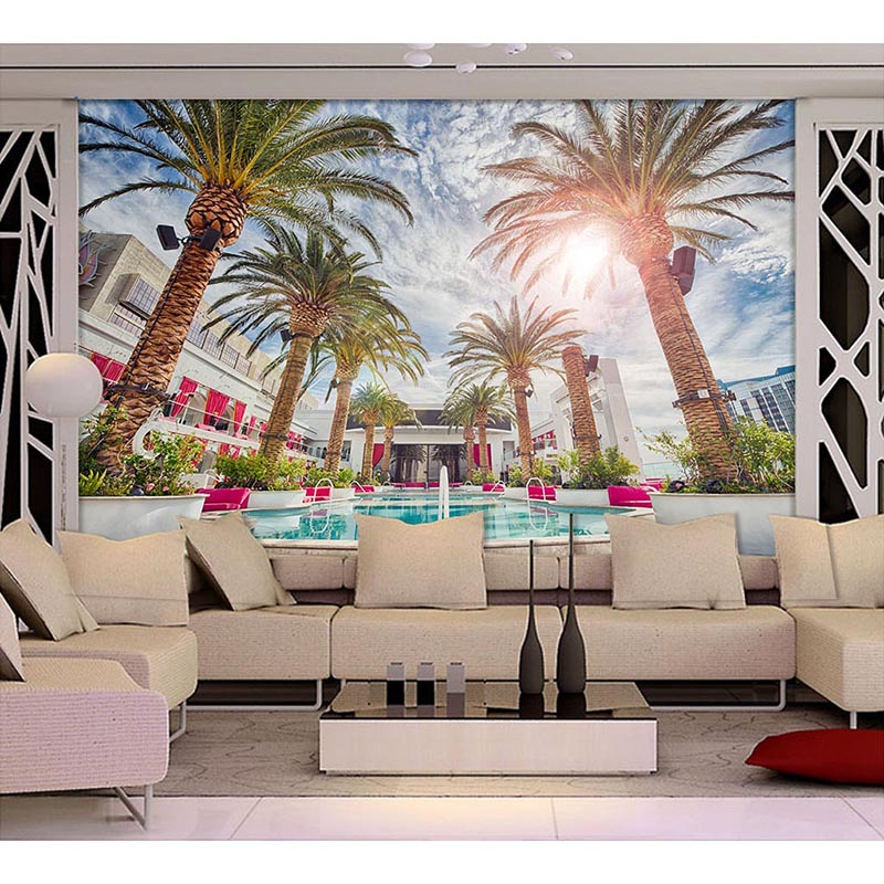 The Latest 3D Palm Landscape Wall Murals Paper Living Room TV Sofa Bedroom Background Wallpapers Amazing Recor FASHION 221 In From Home