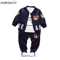 Brand New Children Boys Girls Clothing Sets Spring Autumn 2017 Fashion Style Cotton Coat With Pants