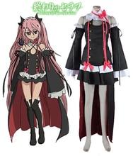 Serafín de finales vampire krul tepes negro lolita dress cosplay