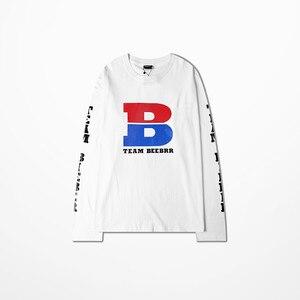 Image 5 - Kanye West Coast T Shirt Long Sleeve Men Hip Hop High Street Lit To Pop Tanes Print Vikings T shirt Drake Souls Tee Shirt Homme