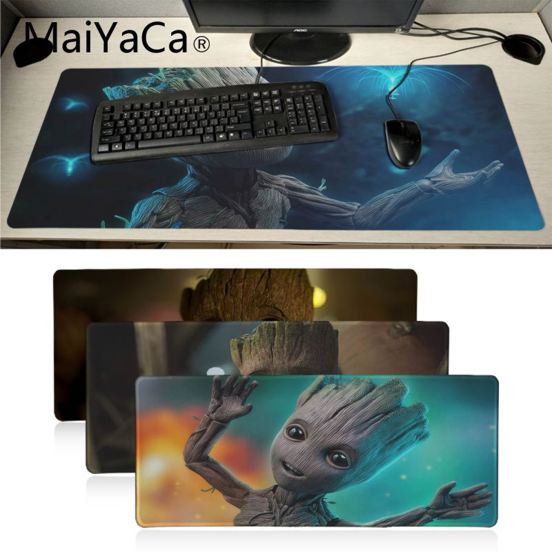 Maiyaca Cute Marvel Groot Natural Rubber Gaming Mousepad Desk Mat Gaming Player Desk Laptop Rubber Xxl Mouse Pad 900x400mm