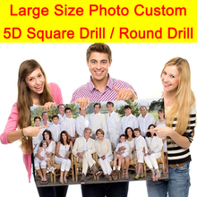 Large Size Photo Custom Diamond Painting Embroidery Mosaic Full Square Drill and Round Cabinet Table