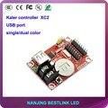 Kaler XC2 porta USB cartão de controle de led 32*320 pixel levou controlador cartão para P10 ao ar livre display led tela led scrolling sign baord