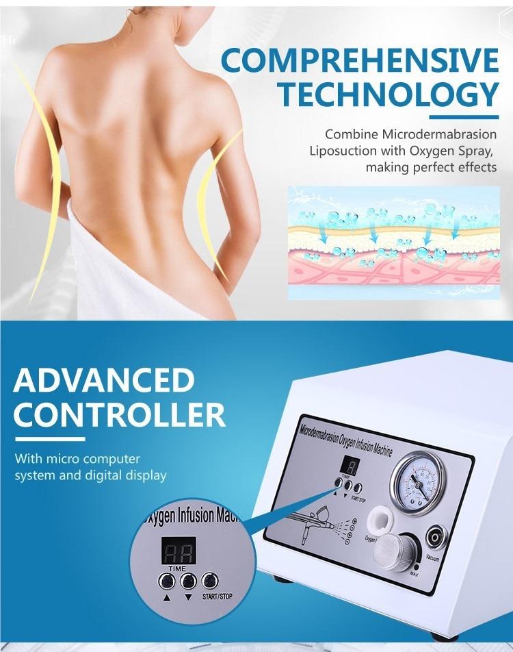 Portable 2 in 1 water oxygen skin rejuvenation dermabrasion jet peel machine