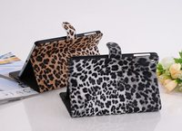 Retro Ultra Slim Leopard Flip Stand PU Leather Cover Card Holder Magnetic Smart Sleep Case For