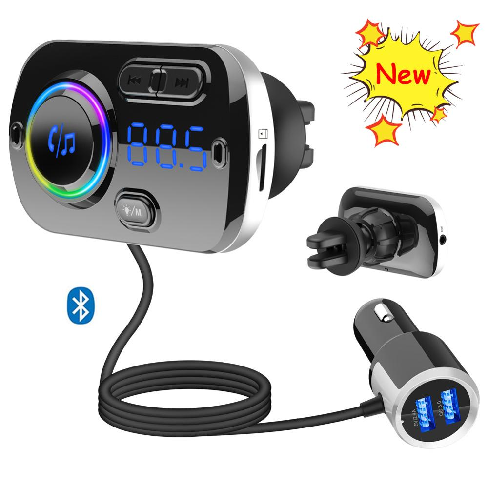 Wireless Bluetooth Handsfree FM Transmitter Car kit MP3 Player Speaker Charger