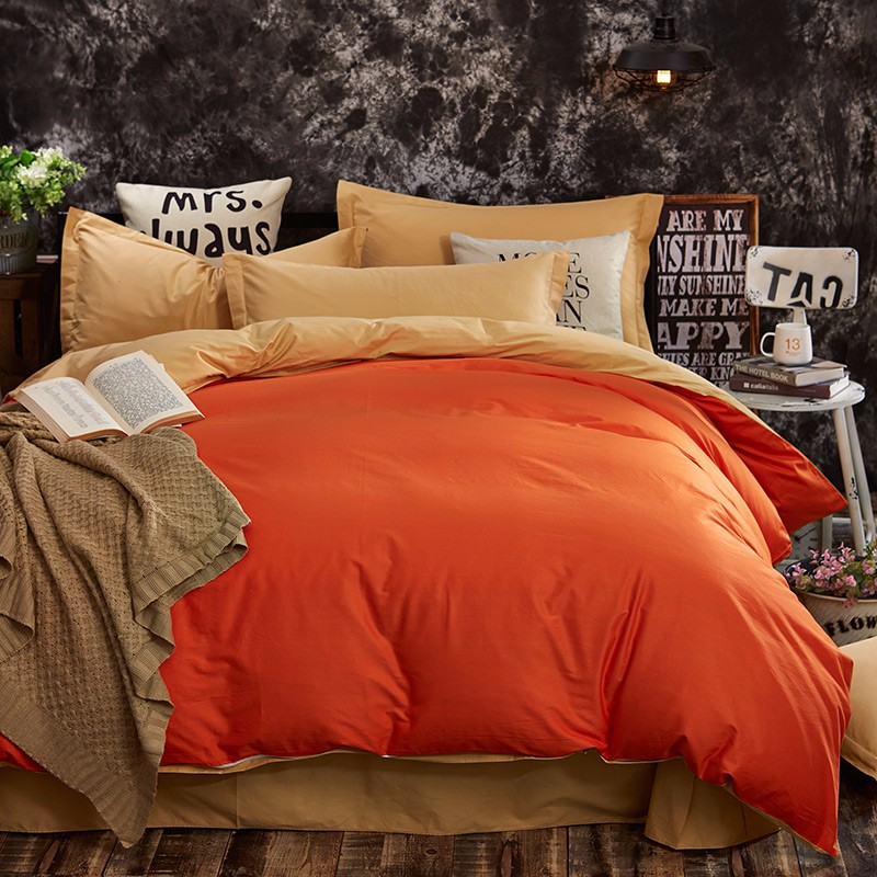 100% Cotton Black Red Color King, Queen, Twin, Size Bedding Set, Solid Color Duvet Cover Set, Bed sheet /Fitted Sheet, Pillowcases 39