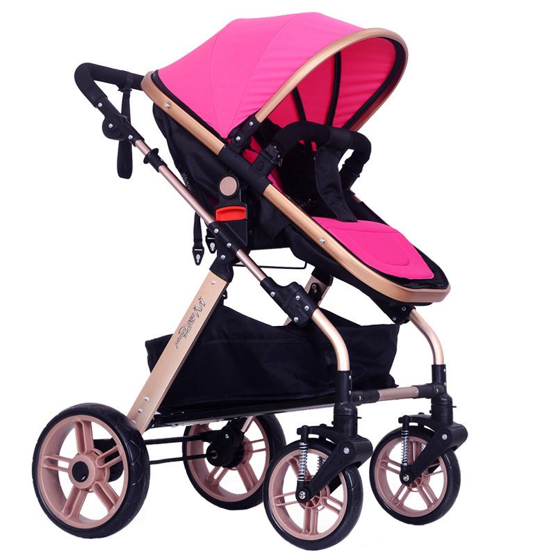 New Design Four Wheel Baby Carriage Pram Buggy Outdoor Travel Stroller Portable Baby Stroller Infant Pushchair