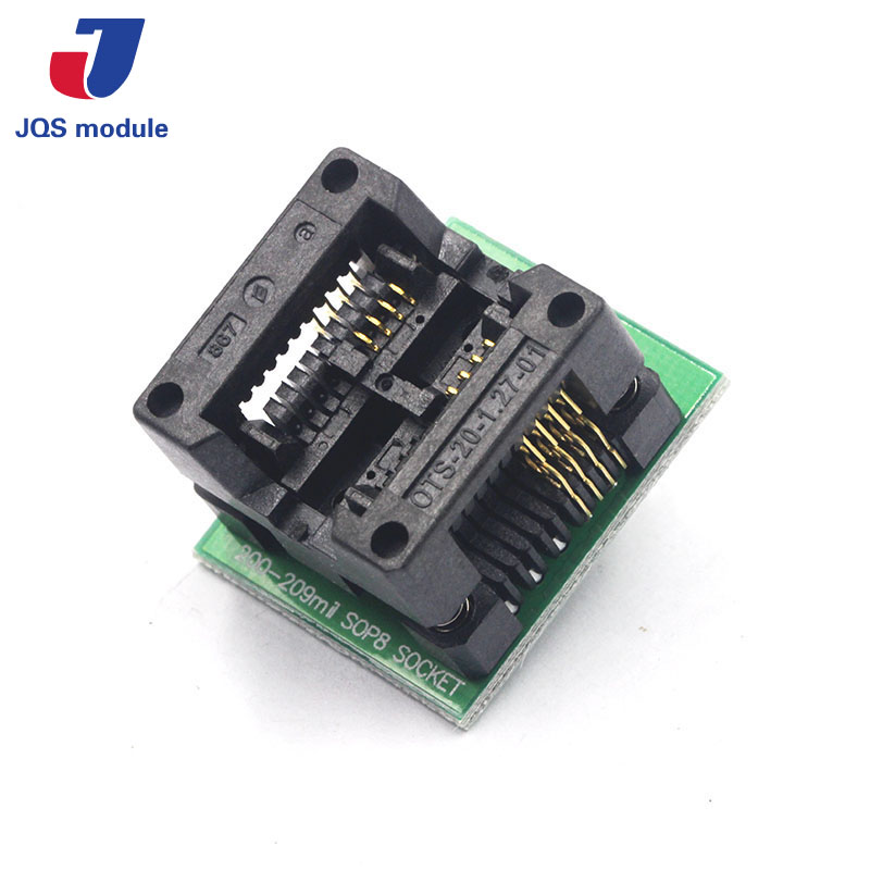 10pcs SOP8 TURN DIP8 WIDE SOP8 to DIP8 Programmer adapter Socket Converter for SOP8 Wide 200mil(Wide) NEW free shipping 10pcs fsl106hr dip8