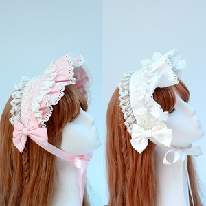 Image 4 - Afternoon Time ~ Sweet Ruffled Lolita Headband with Lace Trimming
