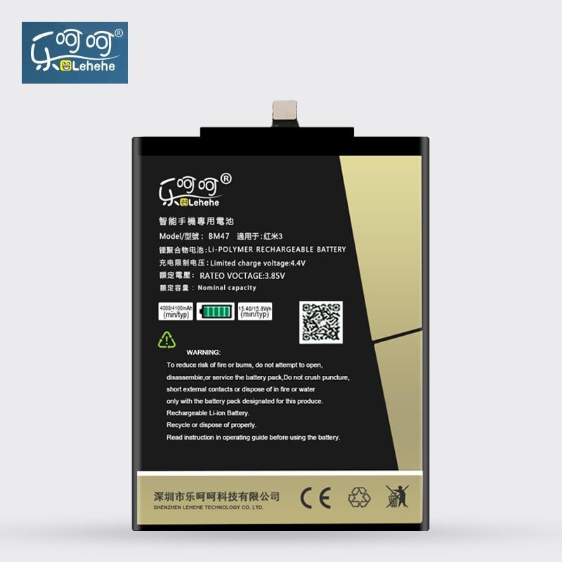 New Original LEHEHE Battery BM47 For Xiaomi Redmi 3 3S 3X 4X Hongmi 3 3S 3X 4X Prime Pro 4000mAh Batteries Free Tools Gifts
