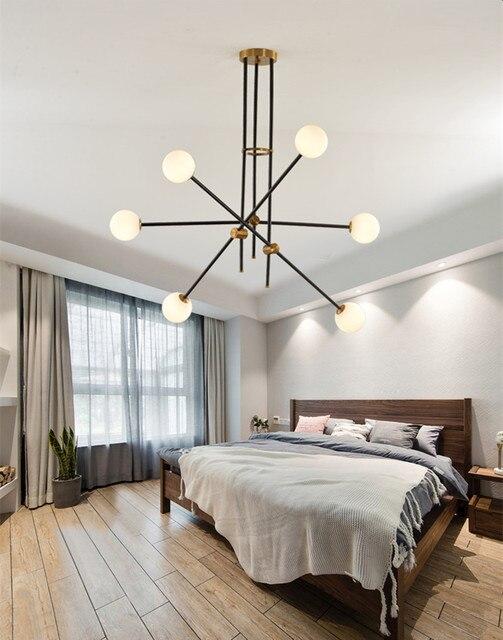 Vintage Hanging Light Glass Metal Modern Ceiling Light Fixture New  Suspension Lamp For Bedroom Home Decor