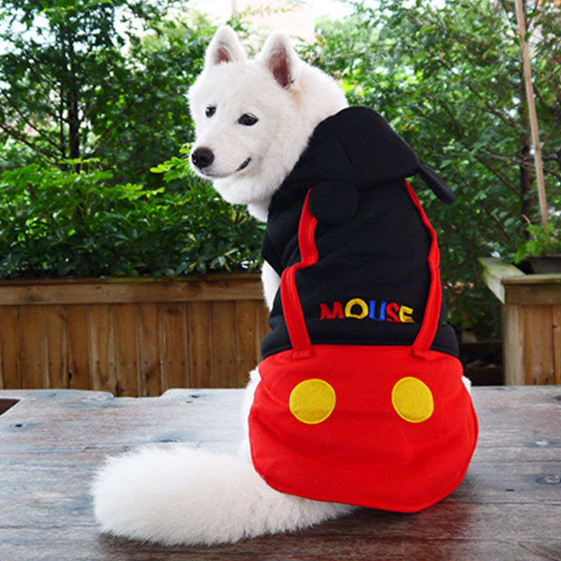 funny halloween cartoon pet cat dog mickey costume small big dog puppy party jacket clothes golden
