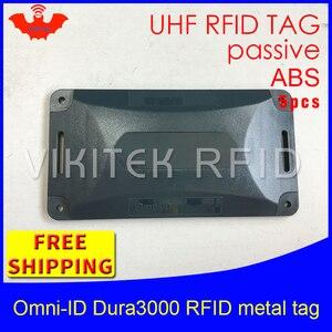 UHF RFID tag do metal Dura3000 omni-ID 915 mhz 868 mhz Alienígena Higgs3 EPC 5 pcs frete grátis durable ABS cartão inteligente RFID passiva tags