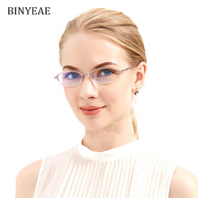 226870c870 BINYEAE Anti Reflective Clear Lenses Half Frame Metal Red Optical Reading  Glasses