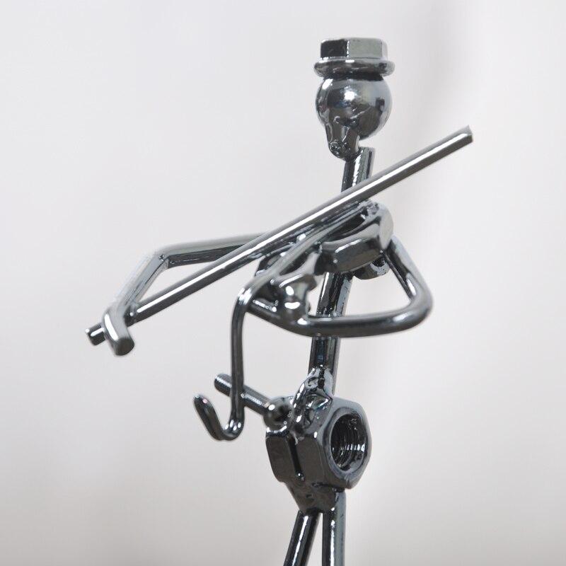 Ensemble de 8 pièces Mini Bande Sculpture Instrument de Musique Figurine Ornement Statuel Music Man Figurines Fer Basse Guitare Music Man - 4