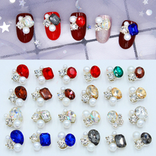 100pcs Nail Art Rhinestones Crystal Alloy 4*17mm K9 Series Crystals Gem Charm For 3D Decoration #JC197-216