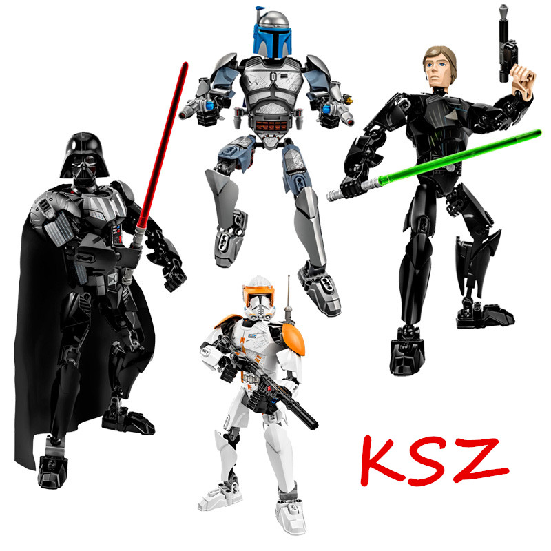 NEW KSZ 712 Star Wars 7 Warrior Robot Building Blocks Toys Bricks Educational Toys Model Kits Compatible with legoe
