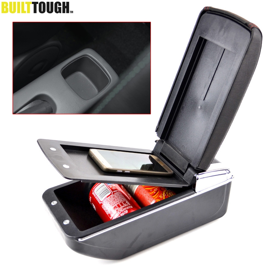 For Suzuki Swift 2005 2017 Dual Layer Armrest Arm Rest Center Console Tray Storage Box Leather